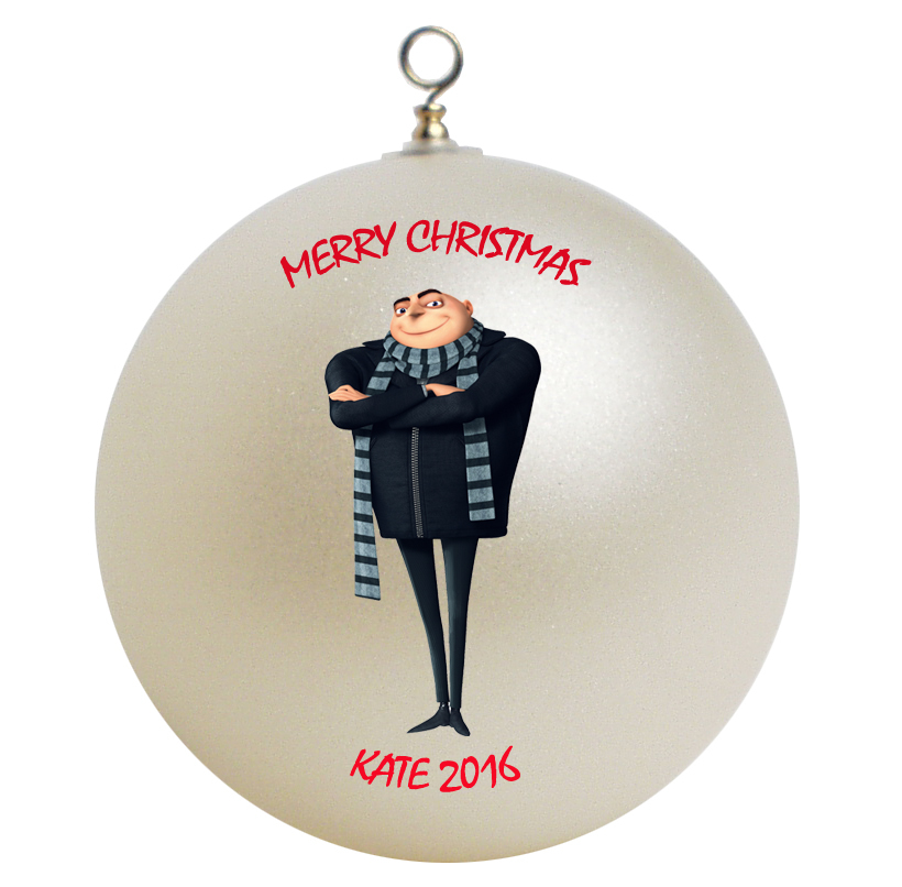 Despicable me gru christmas ornament