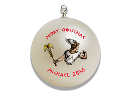 Personalized Greek God Hermes Christmas Ornament Gift - $16.95
