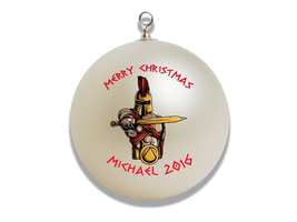 Personalized Greek God Ares Christmas Ornament Gift - $16.95