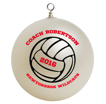 Personalized Volleyball Coach Christmas Ornament Gift - $16.95