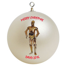 Personalized Star Wars C3PO Christmas Ornament Gift - $16.95