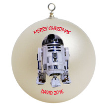 Personalized Star Wars R2D2 Christmas Ornament Gift - $16.95