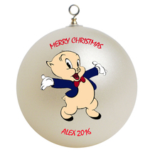 Personalized Porky Pig Christmas Ornament Gift - $16.95