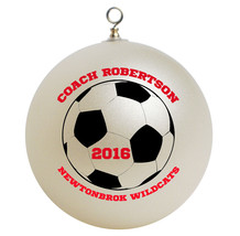 Personalized Soccer Coach Christmas Ornament Gift - $16.95