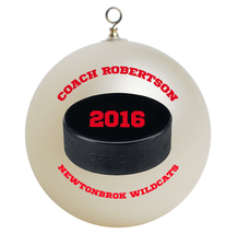 Personalized Hockey Coach Christmas Ornament Gift - $16.95