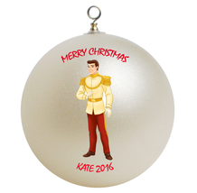 Personalized Disney Prince Charming Christmas Ornament Gift - $16.95