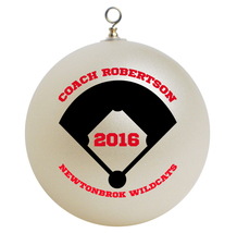 Personalized Baseball Coach Christmas Ornament Gift - $24.95