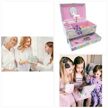 The Memory Building Company Unicorn Music Box & Little Girls Jewelry Set... - $49.99