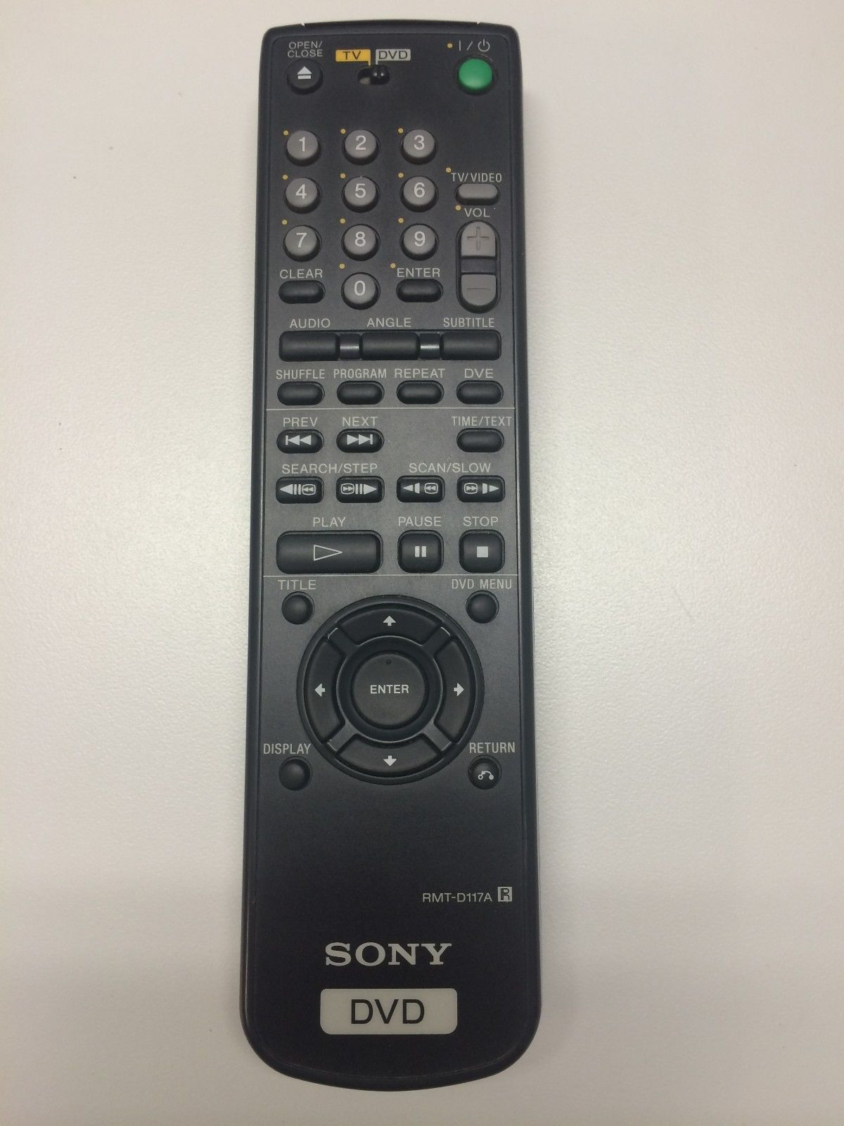 SONY RMT-D117A Remote Control for DVPS56, DVPS560D Tested
