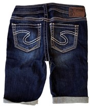 New SILVER Jeans Sale Buckle Dark Mid Rise Aiko Denim Jean Stretch Short... - $19.97