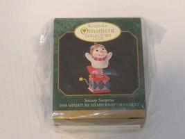 Hallmark Keepsake ornament Christmas miniature Jack in the box snowy sur... - $25.73