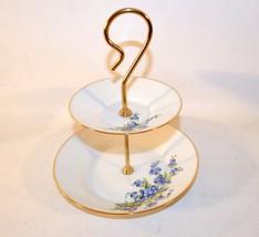 Porcelaine Artistique F.M Limoges France 2 Tier... - $39.60