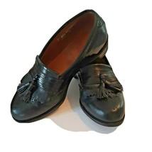 7EEE Allen Edmonds Bridgeton Loafer Black Kiltie Slip On Dress Shoes USA - $70.11