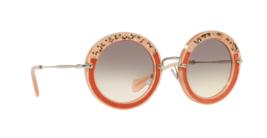 New Miu Miu Womens Sunglasses MU08RS TV14K0 49MM  Pink w/ Grey Lens Fast... - $138.59
