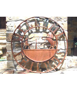 Iron Art Western Horse Roping Welcome Friends Sign 28 inches 1459 bz - $124.98