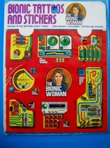 VINTAGE 1976 BIONIC TATTOOS AND STICKERS BIONIC WOMAN Kenner MIP NEW - $18.81