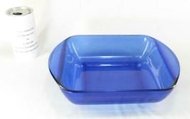 "Anchor Hocking Cobalt Blue Glass 2 Qt Square Baking Dish 8"" x 8"" 20cm x ... - $31.68"