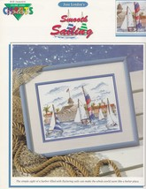 Smooth Sailing, Color Charts Cross Stitch Pattern Booklet 10505 Sailboat... - $4.95