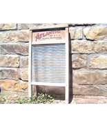 Primitive ATLANTIC 511 Old Washboard Wood Glass 407 BZ - $99.99