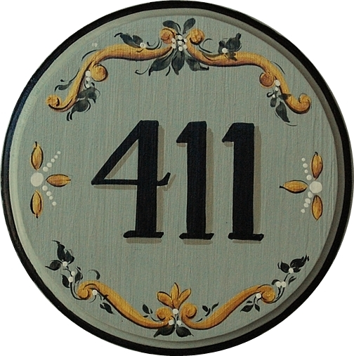 decorative house numbers custom hand painted wooden. Black Bedroom Furniture Sets. Home Design Ideas