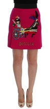 Dolce & Gabbana Pink Carretto Crystal Wool Skirt - $575.25+
