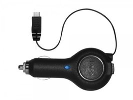 Samsung Galaxy On5 Cellet Retractable Cord Auto Car Charger Adapter Black - $12.75