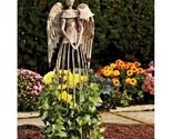 Distressed metal garden angel  plant cage trellis thumb155 crop