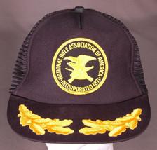 Vtg NRA Trucker Hat-Patch-Leaf Bill-Snapback-Mesh-Patch-Blk-Gun Rifle As... - $28.04