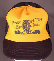 Vtg Front Range Tire Recycle, Inc Trucker Hat-Snapback-Mesh-Black/Yellow... - $24.30
