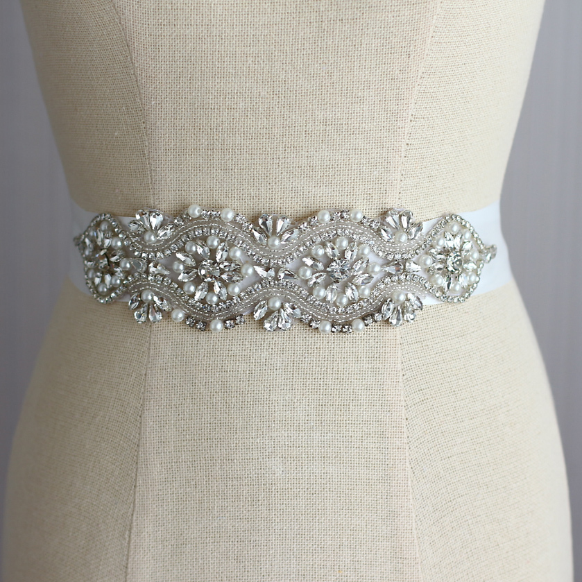 Primary image for Bridal wedding dresses belts, Bride's crystal sashes luxury diamond Jewelry sash