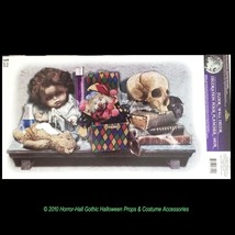 Gothic Horror LABORATORY SKULL DOLL TOYS Haunted House Floor Wall STICKE... - $4.92