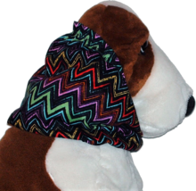 Bright Chevron Stripe Cotton Dog Snood by Howlin Hounds Size Puppy Short - $9.50