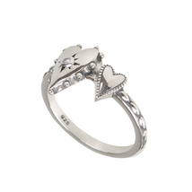 Aura 925 Sterling Silver White CZ Ring (SR01594P-CZ-OX-7) - £16.29 GBP