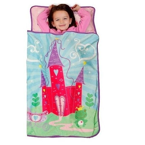 Primary image for Girl Nap Mat For Preschool Baby Boom Daycare Princess Castle Fleece Blanket Kids