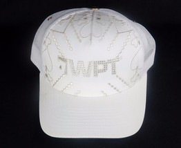 Official World Poker Tour Trucker Cap ~ WPT2, White w/Rhinestone Embroid... - $10.73