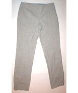 Womens Worth New York Pants Gray White Slacks Office Wide 4 NWT $448 Woo... - $224.00