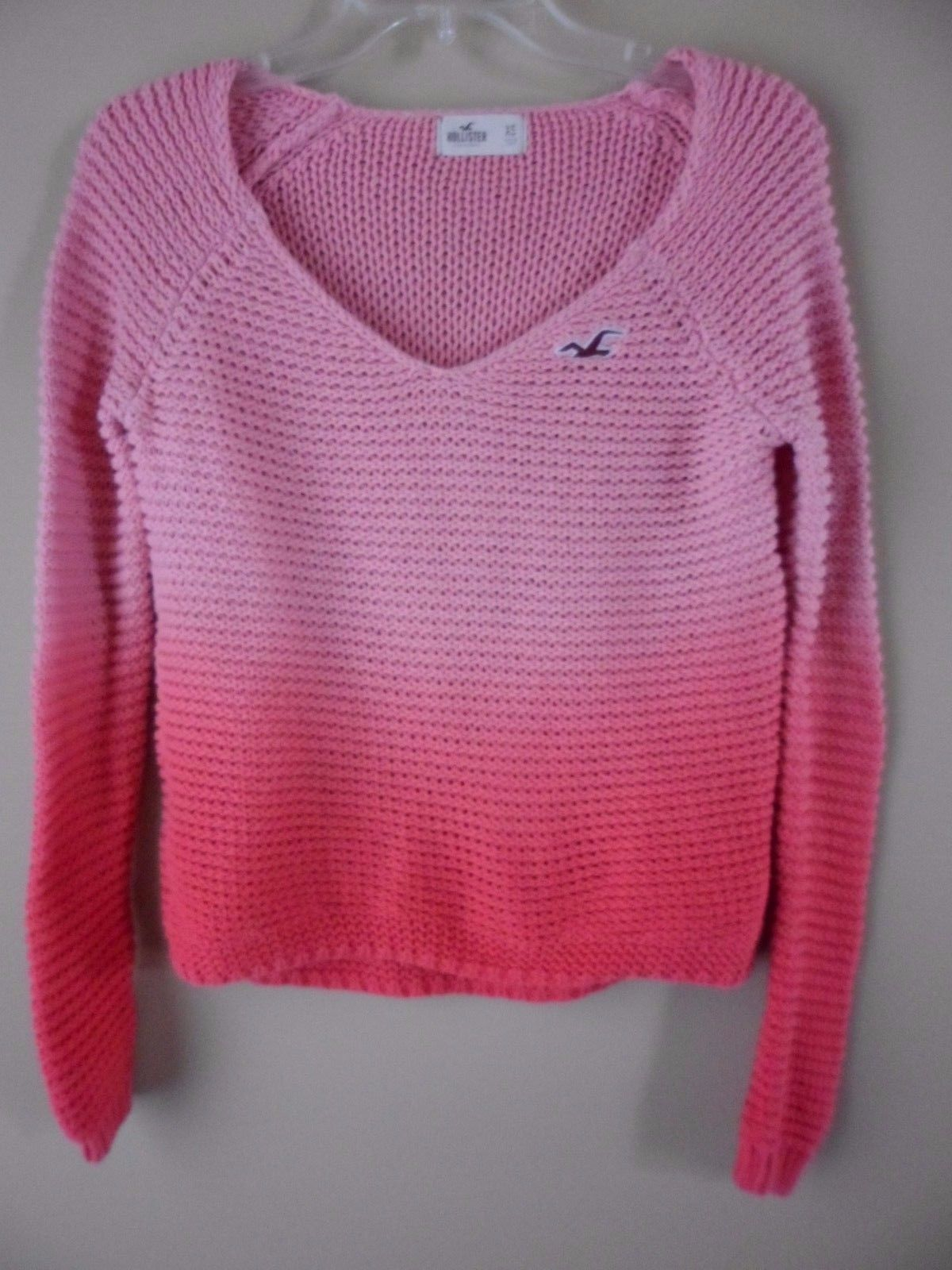 Primary image for HOLLISTER ABERCROMBIE Peach Mellon OMBRE SWEATER Size XS