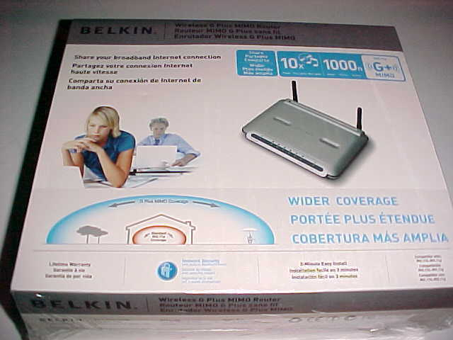 Primary image for Belkin 2006 Wireless Router F5D9230-4 G Plus MIMO 54 Mbps 4 Port 10/100 New