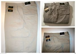 REDHEAD Flannel Lined Mens Cargo Pants Khaki Olive 42 x 32 - $34.95