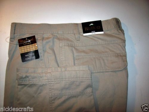 Primary image for Mens Cargo Pants  Flannel Lined Khaki  42x32