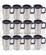WHOLESALE Lot of 12 Stainless Steel Travel Mug 14oz with Tapered Bottom - $49.95