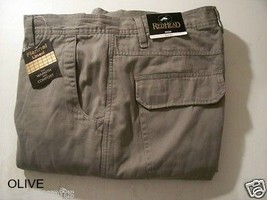 REDHEAD Flannel Lined Mens Cargo Pants Olive 46 x 30 - $34.95