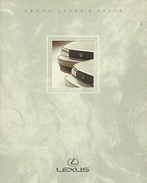 1991 LEXUS full line LS ES sales brochure catalog 91 US LS400 ES250 - $8.00