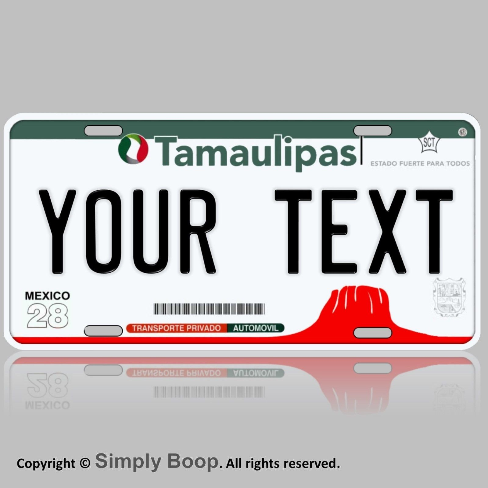 Primary image for Tamaulipas Rio Bravo Mexico Novelty Car License Plate Aluminum Custom Your Text