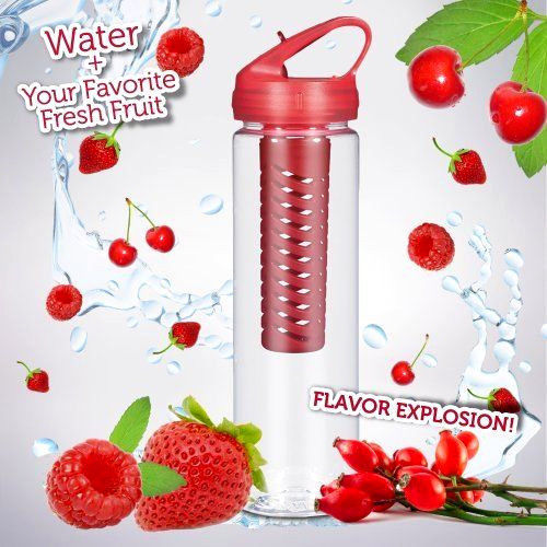 Primary image for 25OZ Infusion Sports Water Bottle  Fruit Infused Water Removable Fruit Infuser