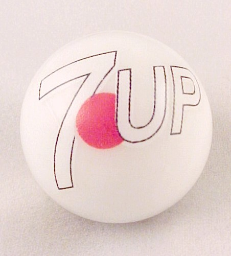 7 UpSeven 7 Up Soda Pop Logo Marble Collectors Advertising Collectible
