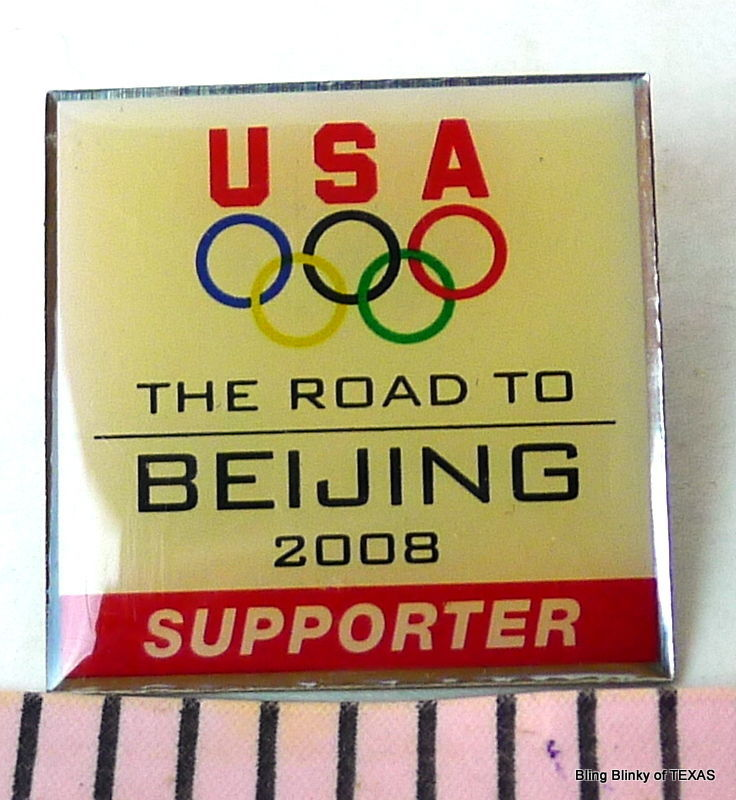 Primary image for Olympic Rings Road to Beijing Pin Supporter 2008 USA