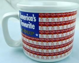 Campbells Soup Chicken Noodle Flag Mug Original Americas Favorite 1998 - $8.41