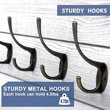 Rustic Coat Rack Wall Mounted,Wall Coat Hooks with 2 DIY Decorations Entryway Co image 5
