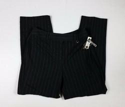 Larry Levine Stretch Petite Dress Pants Slacks Pinstripe Career Size 10P... - $18.16